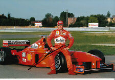 Mika Salo Hand Signed Scuderia Ferrari F1 Photo 12x8 1.