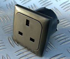 13A SOCKET FACEPLATE & COVER KIT C-LINE 13 AMP CARAVAN MOTORHOME CBE COMPATIBLE