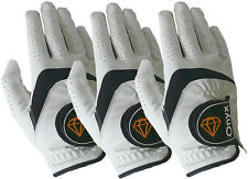 Onyx Mens Premium RH Golf Gloves 3Pack All Weather Size Right Hand Medium White