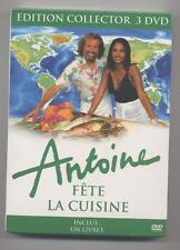 NEUF COFFRET EDITION COLLECTOR 3 DVD  ANTOINE FETE LA CUISINE SOUS BLISTER RECET