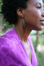 EXPERTIMAGE EARRINGS! BOLD FEATHERS : CHOOSE COLOR : Big Large NYC Style