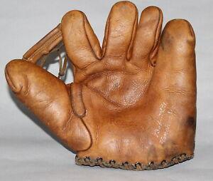 Antique Vintage Reach Babe Ruth Home Run Special split finger baseball glove