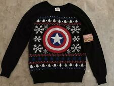 Captain America Marvel Christmas Sweater Junior Women's Medium