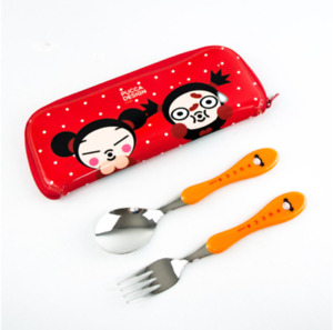 Pucca Character Spoon Fork Set Picnic  For lunch box 3 Designs Kids