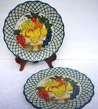2 Raymond Waites Studio Certified International Dinner Plate Fruit in Compote