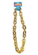 90's Jumbo Gold Chain Pimp Gangster Mr T Fancy Dress Costume Accessory New