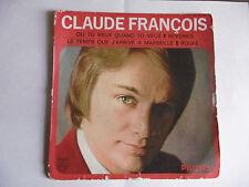 DISQUE FLECHE N°6-CLAUDE FRANCOIS-(4 chansons)-DISQUE45T-OCCASION-tres recherché