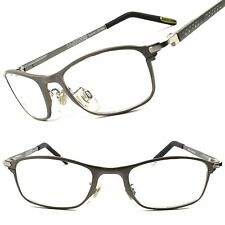 Upscale Hot Rectangle Rx-Able Prescription Mens Womens Eye Glasses Silver Frames