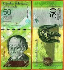 VENEZUELA 50 BOLIVARES UNC # 360