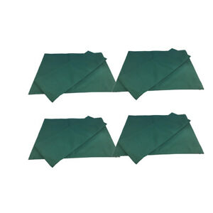 4Set Green Canvas Backrest Seat Cloth for Cross Folding Chair/Stool/Seat