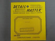 New DETAIL MASTER 1/43 Scale Model Kit LICENSE PLATE FRAMES (8 Pieces), DM 2024