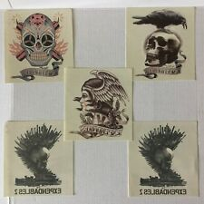Super Rare Expendables 1 & 2 Movie Promo Large Temporary Tattoos Lot of 5 Fun!
