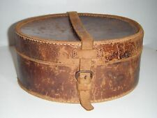 Vintage Leather Stiff Collar Box with Collars