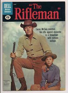 THE RIFLEMAN # 7  DELL COMICS 1961  MID GRADE COPY BRIGHT, GLOSSY & CLEAN  F/F+