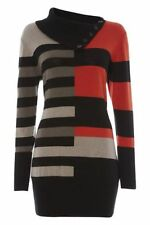 Collared None Long Striped Jumpers & Cardigans for Women