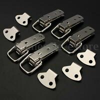 1/4/10 Set Metal Spring Draw Toggle Latch Catch Cases Boxes Chest Cabinet