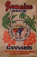 JAMAICAN cannabis BURLAP BAG 003 feed bags reefer sack novelty marijuana potleaf