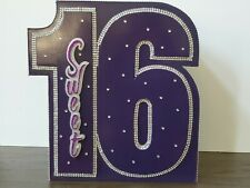 Sweet 16 Purple Greeting Card/Gift Card Box, Customized (Used Only Once)