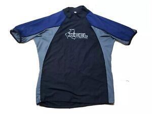 XCEL Hawaii Rash Guard Adult 2XL XXL Tight Compression Short Sleeve Swim Shirt