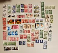 100 Stamps - Pairs and Sets of used Worldwide Stamps - Lot 4