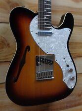 New Fender® Deluxe Tele® Thinline Rosewood Fingerboard 3-Color Sunburst w/Gigbag