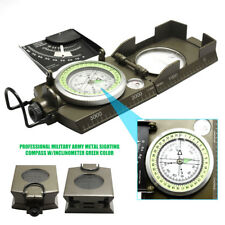 Professional Pocket Military Army Sighting Compass + Inclinometer Outdoor Hiking