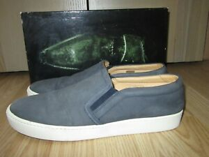Mens RUSSELL&BROMLEY Blue Nubuck Slip-on Loafers Shoes Size 44 / UK 10 GREAT
