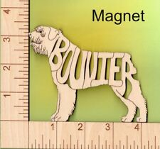 Bouvier des Flandres Dog laser cut and engraved wood Magnet