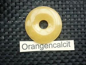 Anhänger Donut rund - Orangencalcit  / Sofortversand  AA-Qualität Geschenk TOP