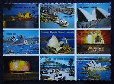 Sydney Opera House NSW 9 view NCV c1970's Postcard (P243)