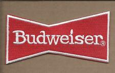 NEW 2 1/8 X 4 1/4 INCH BUDWEISER IRON ON PATCH FREE SHIPPING