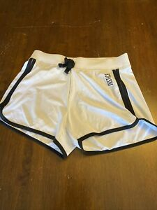 Girls Justice Size 12 White Shorts W/ Black Stripe Gym Look!!
