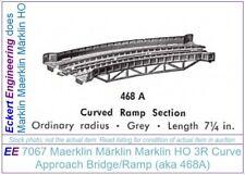 EE 7067 VG Marklin HO 3R Metal Bridge Curve Ramp Very Good Condition Hollow Rail