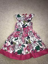 Gymboree Island Hopper pink Floral Flower Print Dress In Size 10