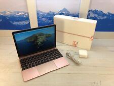 "Apple MacBook Retina 2017 12"" Laptop 256GB 1.2GHz 8GB RAM Rose Gold 14 cycles"