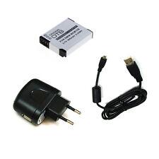 Akku und Ladegerät und Ladekabel für Panasonic Lumix DMC-TZ61 DMC-TZ71