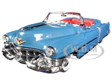 1953 CADILLAC ELDORADO CONVERTIBLE BLUE 1/18 DIECAST MODEL CAR AUTOWORLD AW251