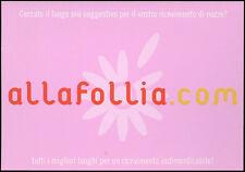 cartolina pubblicitaria PROMOCARD n.1977 ALLA FOLLIA RICEVIMENTO MATRIMONIO