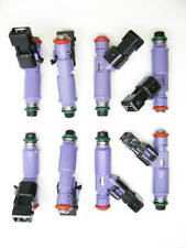 SET of 8 BRAND NEW 24 lb FORD RACING FUEL INJECTORS w/adapters, M-9593-LU24A