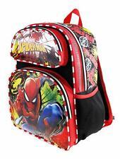 "Marvel Spiderman Spider-man 14"" Full Size Backpack - Metal Web A15502"