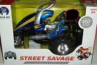 Blue Hat Street Savage R/C Stunt Vehicle Radio Controlled Cycle Remote car Xmas