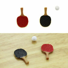 Mini Table Tennis Racket with Ball Model Dollhouse Miniature Accessories Decor
