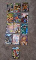 Comic Book Lot Of 13: Batman X-men Fantastic Four Captain America Hulk Namor 90s