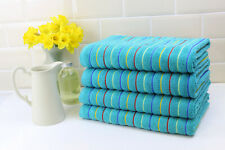 Stripe Bathroom Towels Large Sheets Pack of 2 Blue Thick fluffy and absorbent