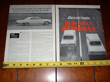 1963 CHEVROLET IMPALA SS - 409 vs. IMPALA SS 327 - ORIGINAL VINTAGE ARTICLE