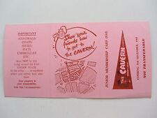 THE BEATLES ORIG 1964  CAVERN  CLUB JUNIOR GIRLS PINK MEMBERSHIP  CARD 1798  EX+