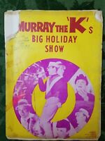 """RARE """"ONE OF A KIND"""" SIGNED 1965 MURRAY THE """"K"""" BIG HOLIDAY SHOW CONCERT PROGRAM"""