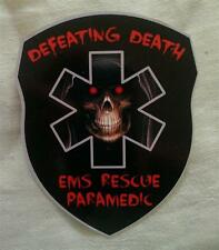 EMS Rescue Paramedic Defeating Death Decal