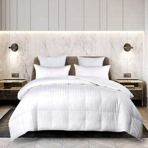 Hotel Grand European White Down Comforter 650 Fill Power 500 Thread Cotton Cover