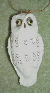 OWLS! Off-white owl Christmas ornament